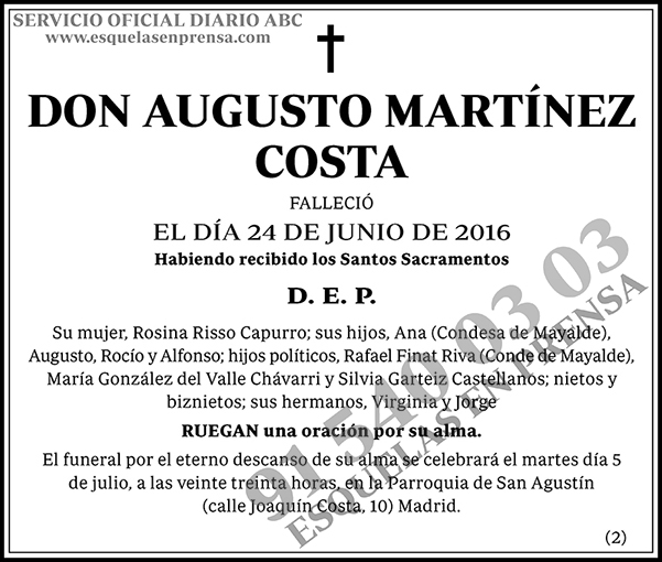 Augusto Martínez Costa